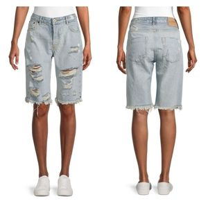ONE TEASPOON Truckers Mid-Rise Distressed …